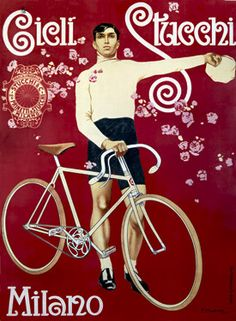 Cicli Stucchi Milano Bicycle Poster