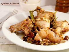 Coniglio con olive e pinoli - Piatto della domenica I pasticci di Simona