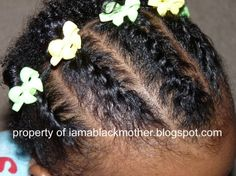 African-American Baby Hair Style - Flat Twists