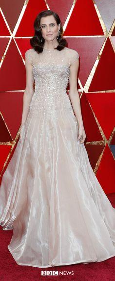 Oscars Get Out star Allison Williams wears Armani Privé Couture Allison Williams Get Out, Allison Janney, Oscar Dresses, Cultural Events, Armani Prive, Destiel, Oscars, Movie Stars, Red Carpet