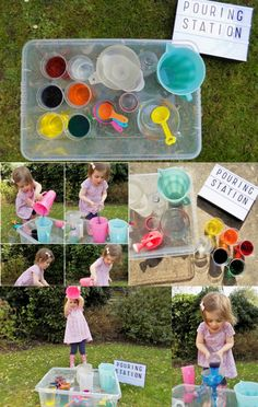 Pouring Station Toddler Activity