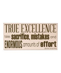 Another great find on #zulily! Cream & Brown 'True Excellence Wall 'Art by Vinyl Crafts #zulilyfinds