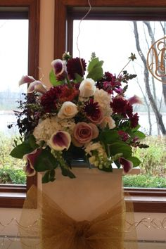 This rich colored fall wedding took place at the beautiful Polish Center of Wisconsin. Fall Wedding, Floral Design, Classy, Table Decorations, Purple, Gold, Beautiful, Home Decor, Blush Fall Wedding