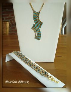 inspiration for both the necklace and the bracelet using tia beads