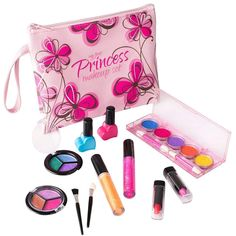 Playkidz My First Princess Washable Make Up Set - 12 Pc Kids Makeup Set - Pretend Makeup for Girls - Makeup Toys for Girls - Comes with Designer Floral Cosmetic Bag Makeup Toys, Makeup Set, Cute Makeup, Perfect Makeup, Beauty Makeup, Makeup Kit For Kids, Kids Makeup, Makeup For Teens, Teen Makeup
