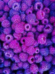 purple raspberries - intense!