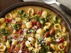 Cranberry Bean Pasta Fagioli Recipe : Food Network Kitchens : Food Network - FoodNetwork.com 574 calories