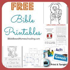 Free Bible Printables   Bible Based Homeschooling on a Budget