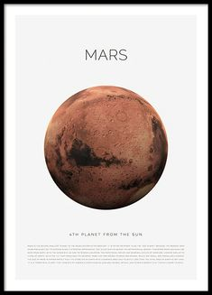Planet Mars Poster Planet Mars Poster in the group Posters & Prints / Kids posters at Desenio AB Groups Poster, Kids Poster, New Poster, Mars Planet, Poster 70x100, Gold Poster, Earth Poster, Buy Posters Online, Vintage Robots