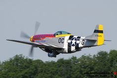 P-51 Mustang tucking in its legs. The take off power sound is unforgettable.