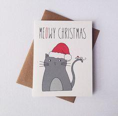 42 Ideas funny christmas ecards cat holidays for 2019 Cat Christmas Cards, Funny Holiday Cards, Christmas Animals, Xmas Cards, Christmas Humor, Christmas Diy, Christmas Lights, Karten Diy, Happy Birthday Funny