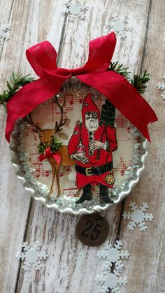 Christmas ornament created by Brenda Enright using Character Construction Doll Stamps by Catherine Moore.
