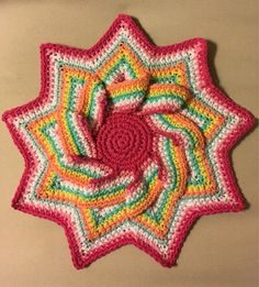 A personal favorite from my Etsy shop https://www.etsy.com/listing/541134547/large-crochet-hot-pad-trivet-pot-holder