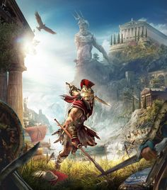 View an image titled 'Cover Art' in our Assassin's Creed Odyssey art gallery featuring official character designs, concept art, and promo pictures. The Assassin, Arte Assassins Creed, Assassins Creed Odyssey, Bayonetta, Video Game Art, Video Games, Grand Chat, Sabre Laser, Vampire