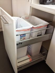 "IKEA Hackers: Non-flimsy full height, 24"" wide recycling and trash cabinet"