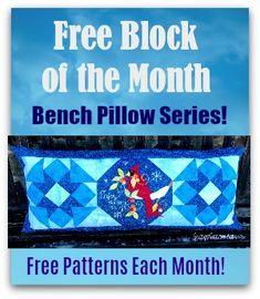 Block of the month- Winter Cardinal Bench Pillow Applique Patterns, Quilt Patterns, Spiral Crochet Pattern, Diy Purse Organizer, Conversation Hearts Candy, Tin Tiles, Faux Stained Glass, Mosaic Diy, Gatos