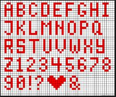 Letters 4 across Crochet Alphabet, Crochet Letters, Bead Loom Patterns, Beading Patterns, Stitch Patterns, Cross Stitch Letters, Cross Stitch Baby, Letter Patterns, Alpha Patterns