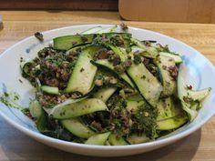 stuff I feed brian: Fettu-Zucchini Pasta with Spinach Sauce Recipe - Gluten free, raw, vegan pasta substitute