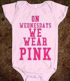On wednesdays we wear pink onesie by LetsPlayBaby on Etsy, $21.99