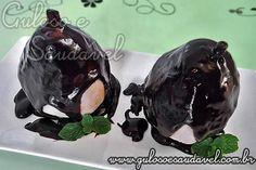 Receita de Peras com Calda de Chocolate Meio Amargo