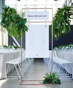 Wedding Table Seating Chart Inspiration