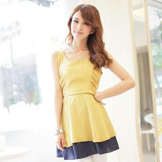 Buy 'Tokyo Fashion – Contrast-Hem Sleeveless Dress' with Free International Shipping at YesStyle.com. Browse and shop for thousands of Asian fashion items from Taiwan and more!