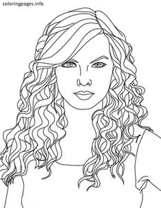 Printable Hair Coloring Pages. easy taylor swift coloring pages located in TAYLOR SWIFT Category  Free Printable for kids Anders Overgaard Portraits Taylor Swift Color