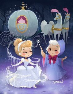 Disney Drawing Glass Slipper Cutie - or Print Print will be hand signed by me! Print will come in clear a plastic baggie with a back board! Disney Magic, Disney Pixar, Animation Disney, Disney Artwork, Disney Fan Art, Disney And Dreamworks, Disney Drawings, Disney Cartoons, Disney Love