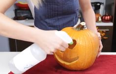 This Woman Sprays Bleach On a Pumpkin.  The Results? Brilliant