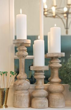 beautiful wooden candle pillars http://rstyle.me/n/bqgctr9te