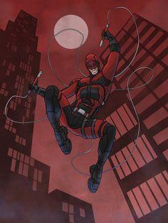 It's a Daredevil illustration that I did. Daredevil Suit, Daredevil Artwork, Daredevil Matt Murdock, Daredevil Punisher, Daredevil Cosplay, Marvel Comics, Marvel Art, Vigilante, Avengers