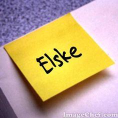 Een briefje met mijn naam.