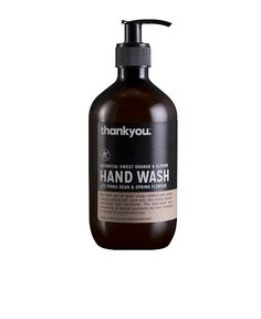 Your hands will be smelling zesty fresh with this sweet orange and almond hand wash. Lather up!   SHOP IT: Thankyou Botanical Sweet Orange &...