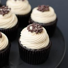 Mocha Cupcakes with Espresso Butter Cream Frosting