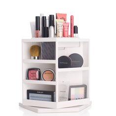 Shela`s Versatile Rotating Cosmetic Organizer - White 599 kr Hanging Makeup Organizer, Make Up Organizer, Mascara, Cosmetic Box, Makeup Box, Work Inspiration, Makeup Organization, Shower Gel, Makeup Remover