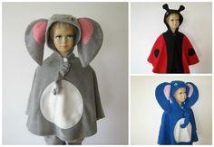 karneval fasching halloween kostüm cape umhang  fleece elefant marienkäfer