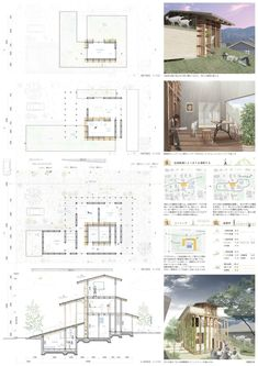 受賞作品 - 木の家設計グランプリ Co Housing, Presentation Skills, Architecture Design, Competition, Floor Plans, Plate, Japan, House, Japanese Architecture