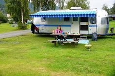 Our airstream in Lom, Norway