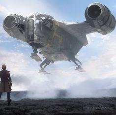 Mandalorian Ships, Boba Fett Mandalorian, Star Wars Vehicles, Warcraft Art, Millenium Falcon, Sci Fi Ships, Star Wars Images, Star Wars Ships, Star Wars Collection