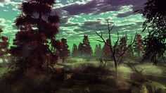 Mushroom swamp by ~Schur on deviantART   Fantasy landscape ...