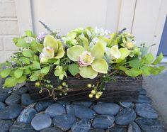 green leafy window box
