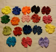 UNFINISHED Lot of 4 pinwheel bow by ThisNThatCraftsByJo on Etsy