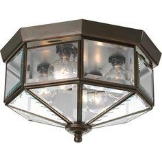 Progress Lighting P5789-20 Beveled Glass 4-Lt. Ceiling Light