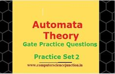 Some important toc gate questions for practice for the gate exam cse aspirants. Here toc gate questions from different topic in automata theory such as dfa questions ,and regular expression questions in automata has been covered in this practice set. Theory Of Computation, Empty Set, Gate Exam, Regular Expression, Automata, Study Notes, Study Materials, Regular Language, Study Tips