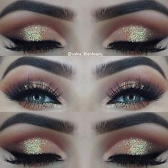 Glam Glitter Eye Makeup Look