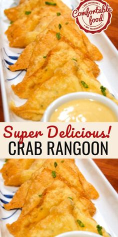 There's no need to go to your favorite Chinese restaurant - with this recipe for homemade crab rangoon it's easy to make them at home. Perfect for a party or for an appetizer before dinner, these crab rangoon are sure to please everyone Crab Recipes, Asian Recipes, Appetizer Recipes, Appetizers, Homemade Crab Rangoon, Crab Rangoon Recipe, Homemade Chinese Food, So Little Time, Food For Thought