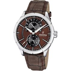 Special Offers Available Click Image Above: Festina Mens Retro Stainless Watch - Brown Leather Strap - Black Dial - Herren Chronograph, Mens Watches For Sale, Brand Name Watches, Retro Watches, Skeleton Watches, Online Watch Store, Bracelet Cuir, Beautiful Watches, Watch Sale