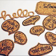10 Pcs Cork Embellishments With Adhesive Backs on Carousell
