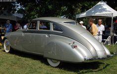 1933 Pierce Arrow V12 silver arrow sedan.