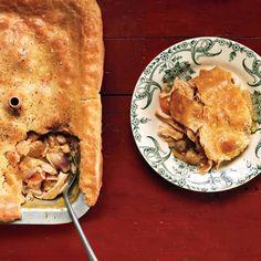 Chicken Pot Pie--good for freezer too Mac Cheese Recipes, Chicken Recipes, Freezer Friendly Meals, Freezer Meals, Tacos, Main Dish Salads, Main Dishes, One Pot Meals, Food Menu